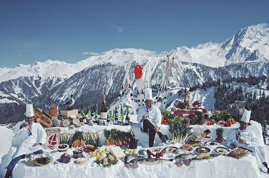 Moutain Buffet Photograph by Slim Aarons