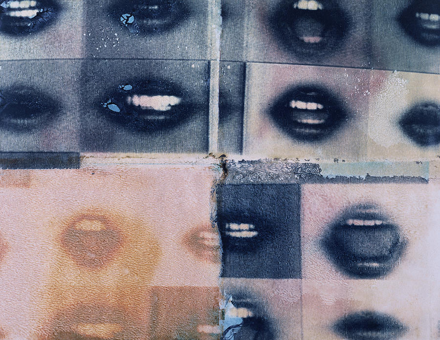 Mouth Collage Photograph by Hans Staartjes