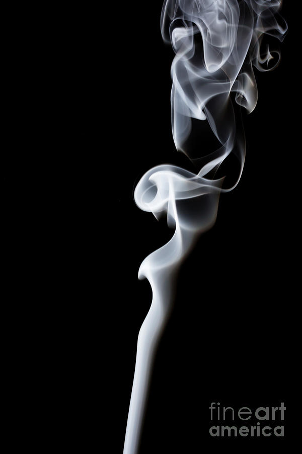 Delicate Photograph - Movement Of Smokeabstract White Smoke by Summer Photographer
