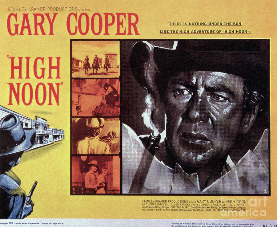Movie Poster For High Noon Photograph by Bettmann