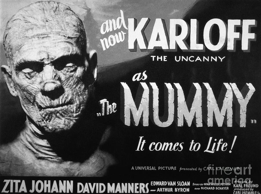 Movie Poster For The Mummy With Boris Photograph by Bettmann