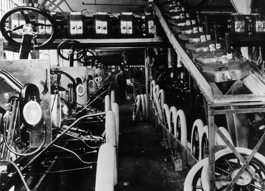 Moving Assembly Line Photograph by Hulton Archive