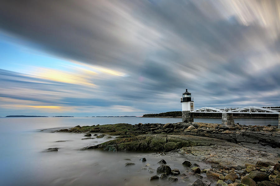 Moving Clouds at Marshall Point by Rick Berk