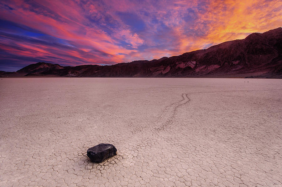 Moving Rock At Death Valley Photograph by Piriya Photography