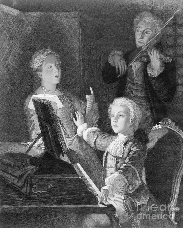 Mozart And Accompanists Rehearsing Photograph by Bettmann