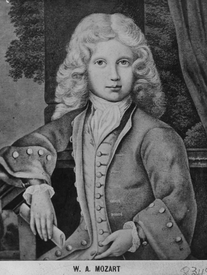 Mozart As Child Digital Art by Hulton Archive