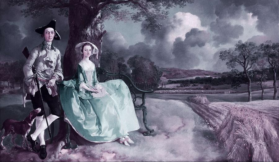 Love Painting - Mr And Mrs Robert Andrews By Thomas Gainsborough -  Infrared Version by Celestial Images