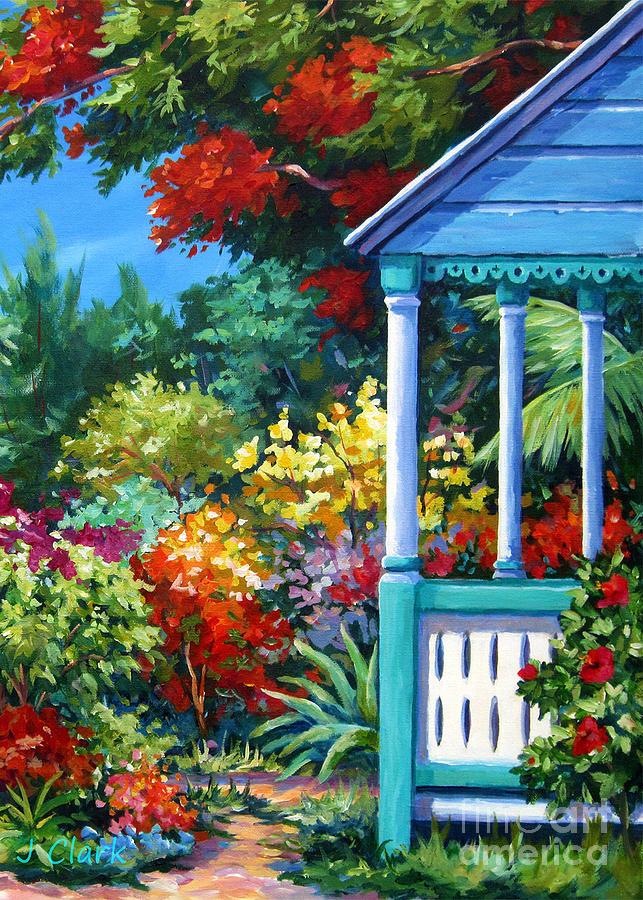 Colour Painting - Mr Boddens Garden by John Clark