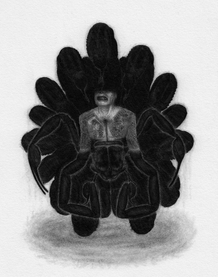 Horror Drawing - Mr Death - Artwork by Ryan Nieves