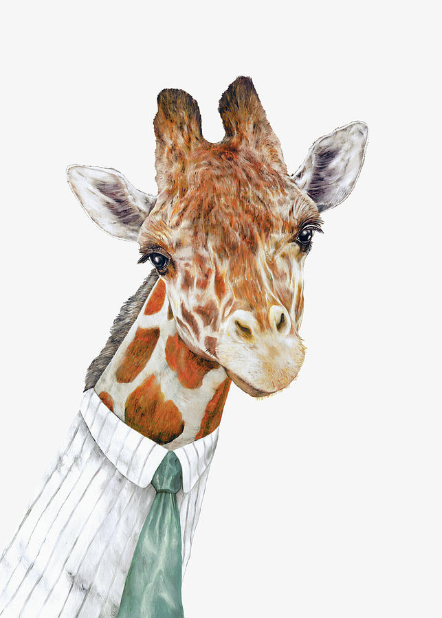 Giraffe Painting - Mr Giraffe by Animal Crew