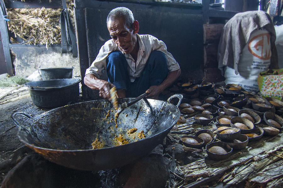 Man Photograph - Mr. Palm Sugar Maker by Fajar Dhika Vandra
