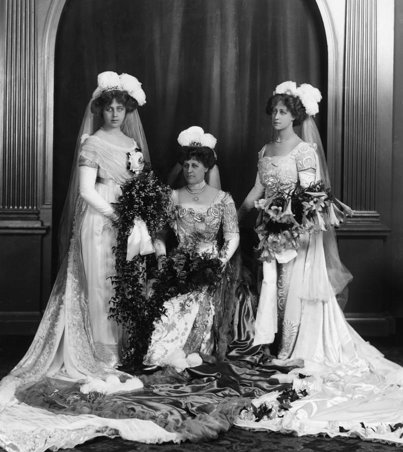 Mrs Lathams Wedding Photograph by Hulton Archive