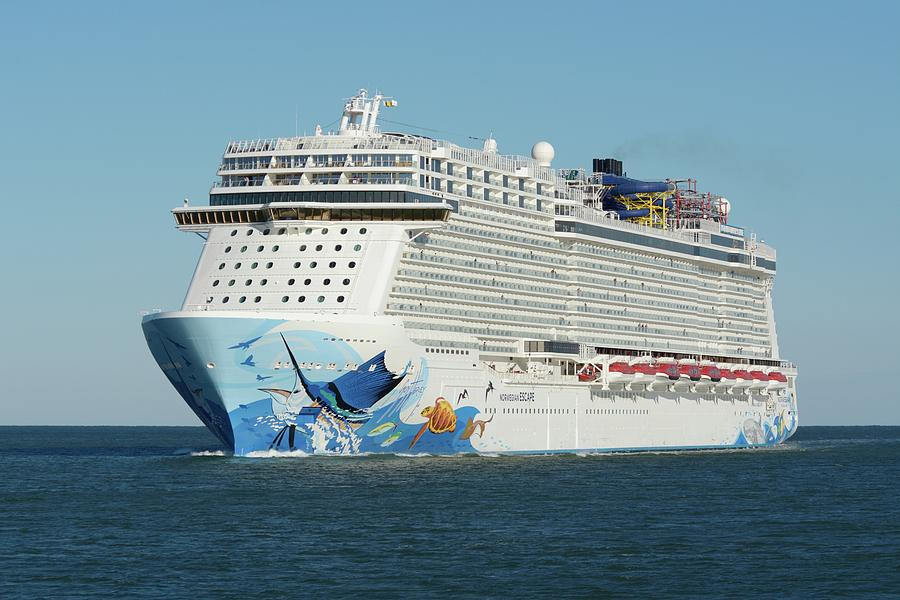 MS Norwegian Escape on Blue Ocean by Bradford Martin