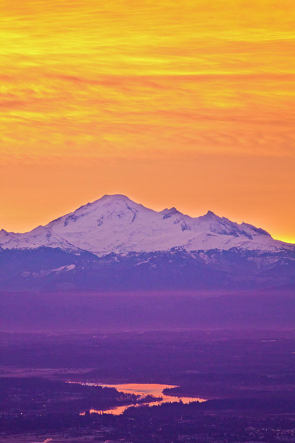 Mt. Baker And Fraser Valley Photograph by Christopher Kimmel