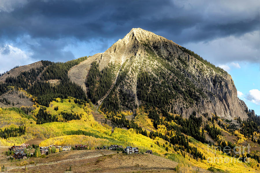 Mt Crested Butte on a Fall Evening by Ronda Kimbrow