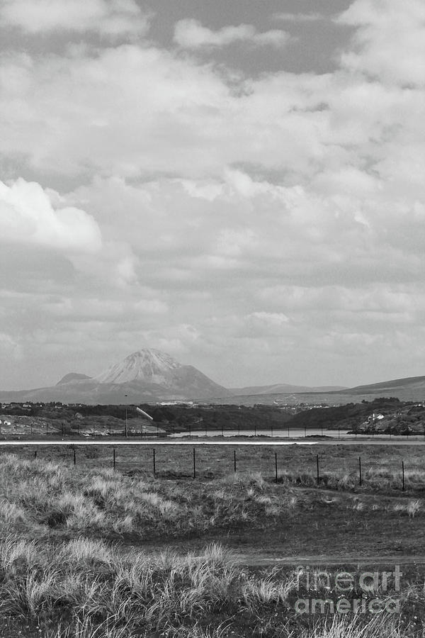 Mt Errigal from Carrickfinn bw Donegal by Eddie Barron
