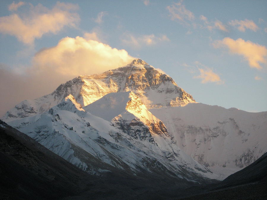 Mt. Everest At Sunset Photograph by Livetalent