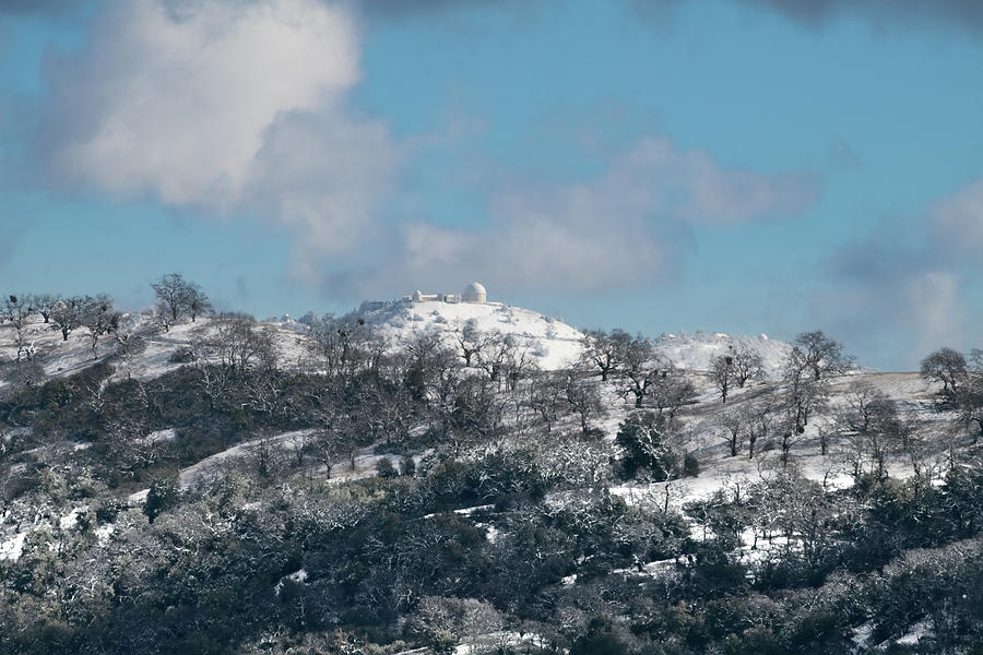 Mt Hamilton in Winter by Mike Gifford