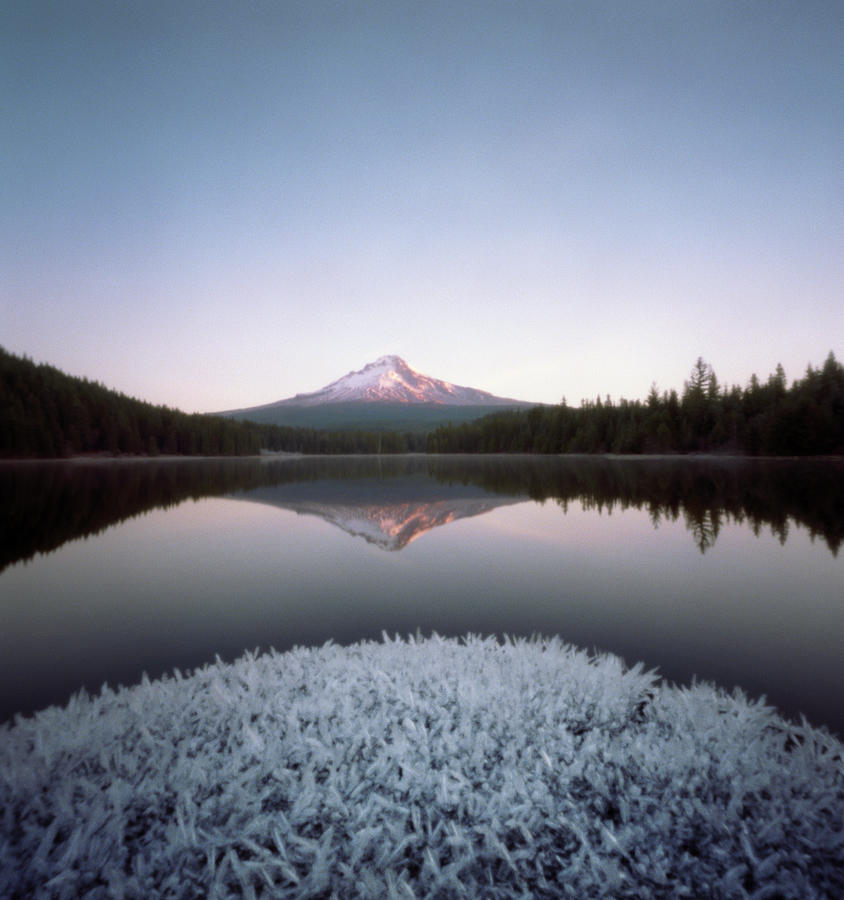 Mt. Hood Lit By Sunrise Photograph by Wendi Andrews