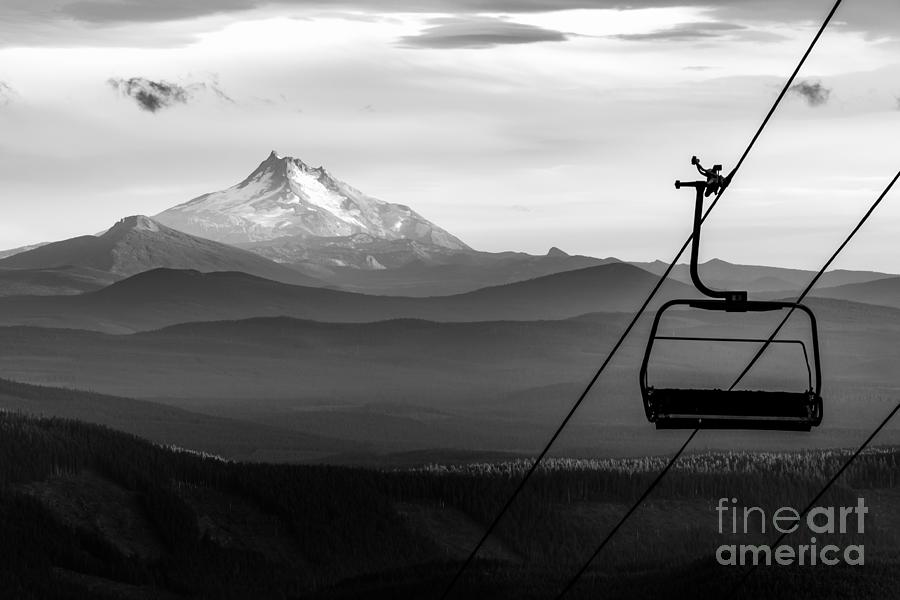 Chairlift Photograph - Mt Jefferson Chairlift by Alex J Baker