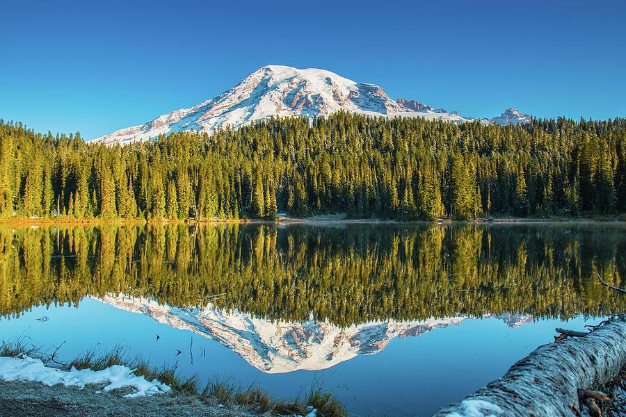 Mt. Rainier in Reflection Lake by E Faithe Lester