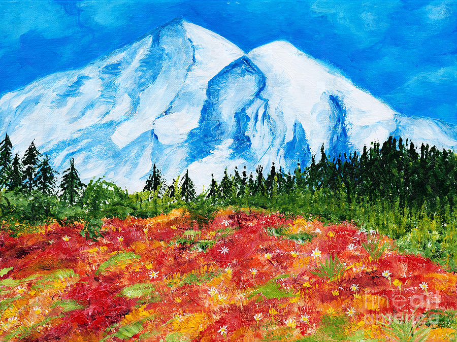 Mt. Rainier Meadows by Art by Danielle