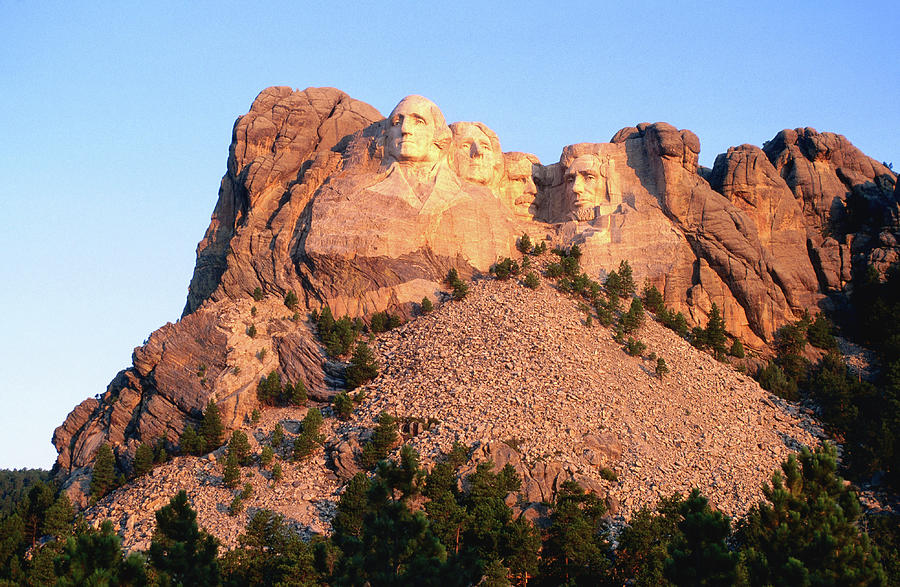 Mt Rushmore Memorial Carvings Photograph by John Elk