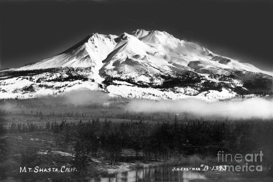 Mt. Shasta, Snow-covered mountain, California Circa 1941 by California Views Archives Mr Pat Hathaway Archives