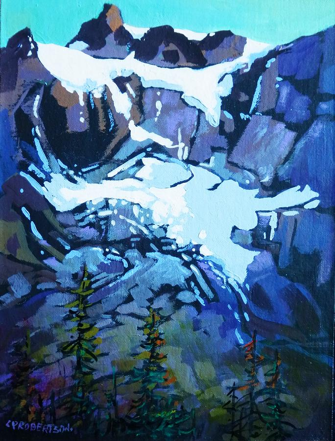 Acrylic On Canvas Painting - Mt. Shuksan, North Cascades National Park, Whatcom County, Wa by Catherine Robertson
