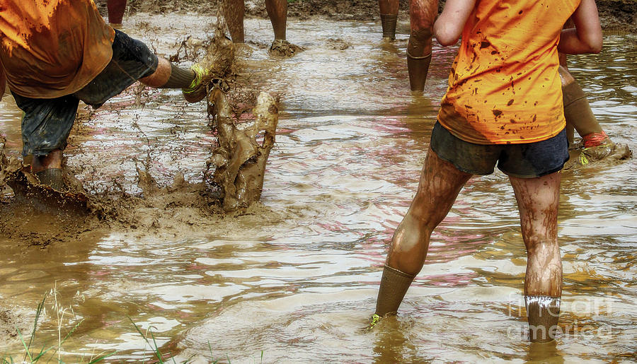 Volleyball Photograph - Mud In Which Men Are Churned by Steven Digman