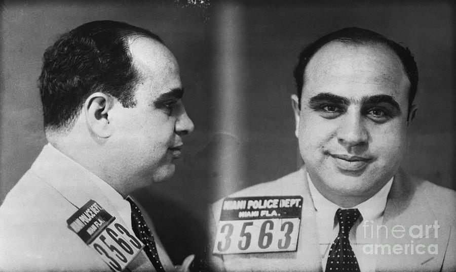 Mug Shot Of Gangster Al Capone Photograph by Bettmann