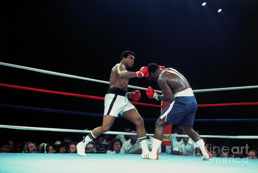 Muhammad Ali And Joe Frazier Boxing Photograph by Bettmann