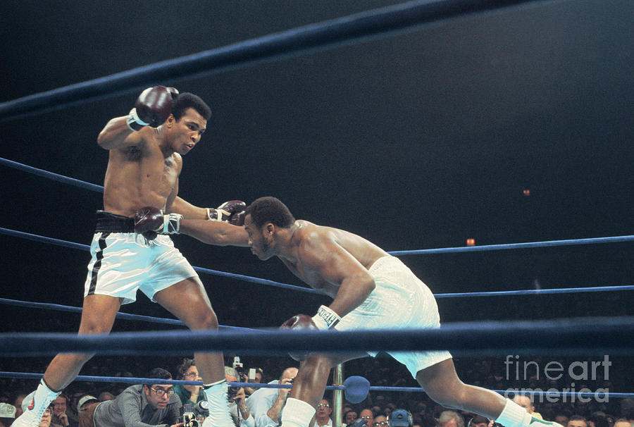 Muhammad Ali Boxing Against Joe Frasier Photograph by Bettmann