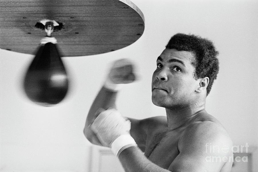 Muhammad Ali Punching Bag Photograph by Bettmann
