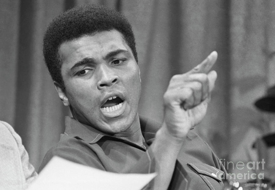 Muhammad Ali Stressing A Point Photograph by Bettmann