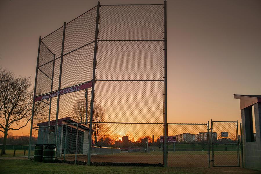 Muhlenberg Softball Field Sunset by Jason Fink