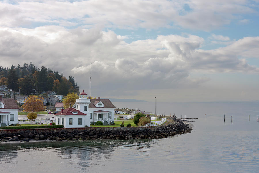 Mukilteo Lighthouse On Puget Sound Photograph by Stevedf