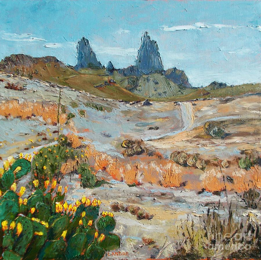 Mule Ears at Big Bend by Lilibeth Andre