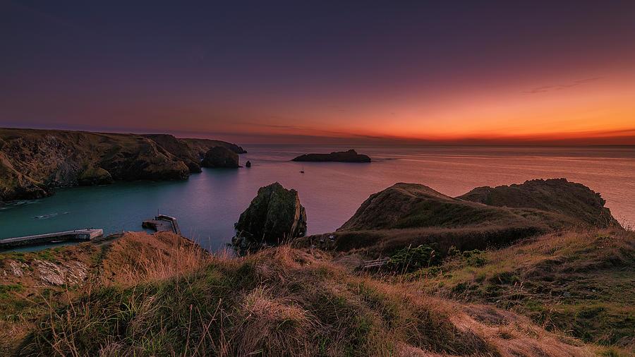 Mullion Cove - Sunset 2 by Eddy Kinol