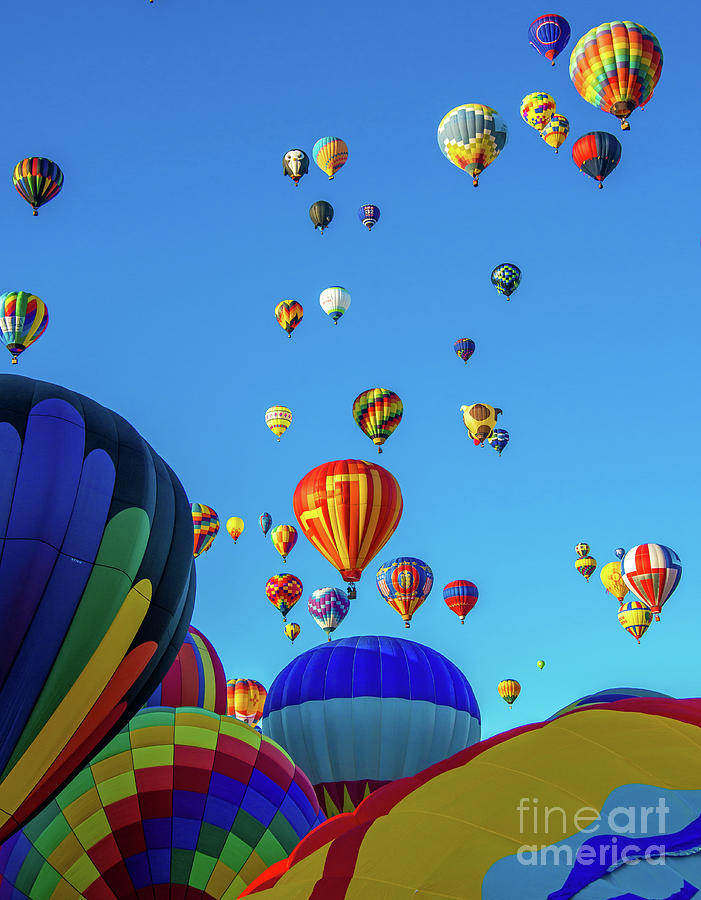 Mult colored Balloons by Stephen Whalen