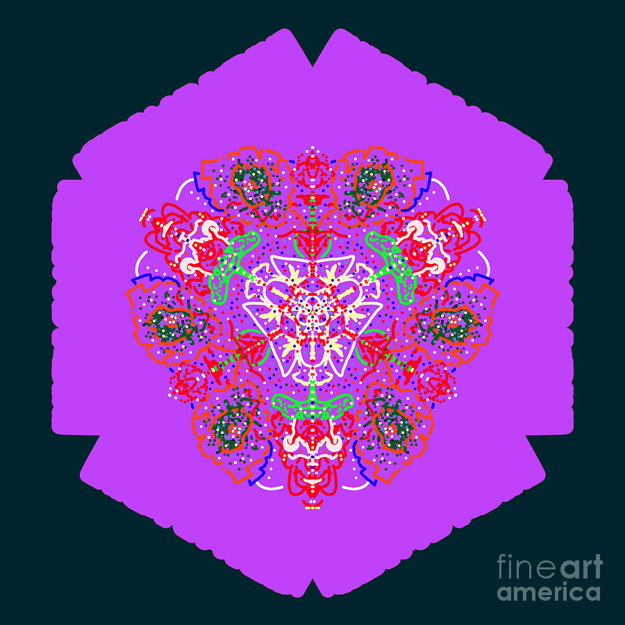 Multi-Floral Abstract Mandala by Catherine Lott