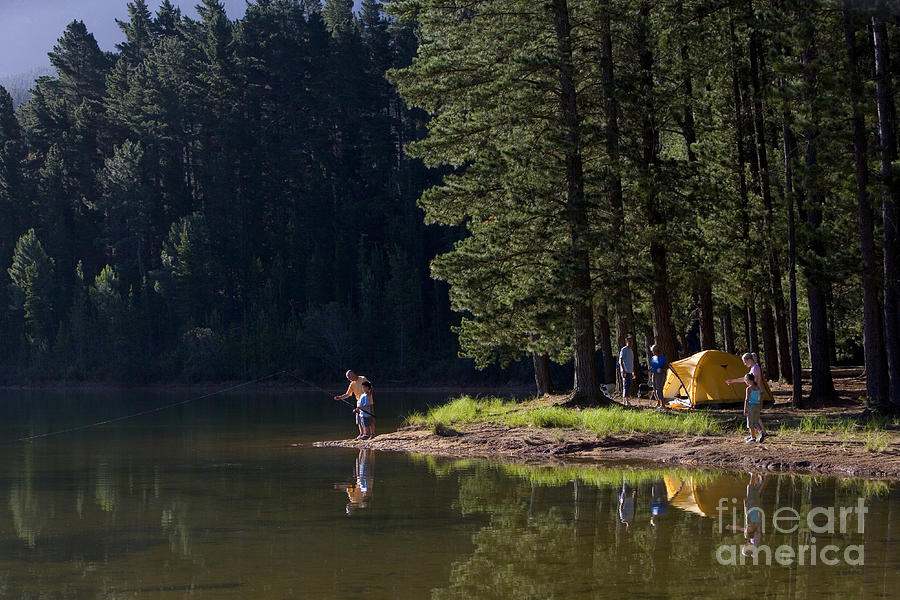 Tent Photograph - Multi-generational Family On Camping by Air Images