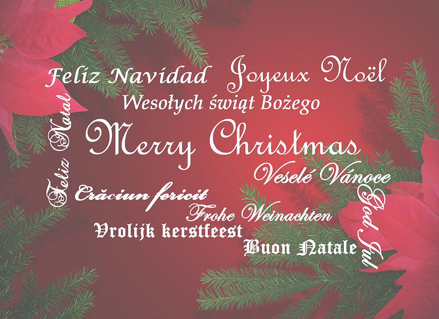 Multi language Merry Christmas by Jacqueline Sleter