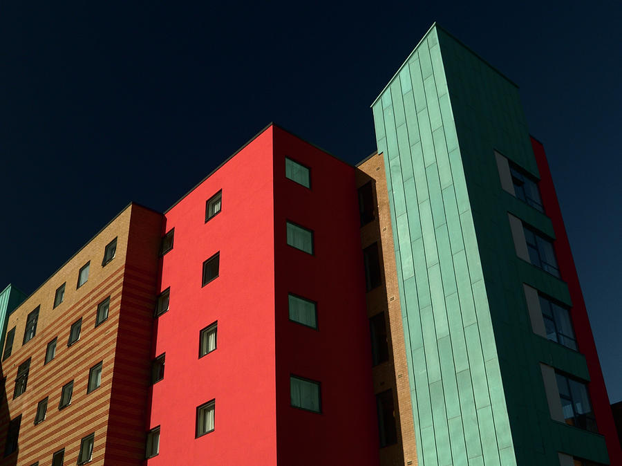 Multicolored Apartment Block Photograph by Mouse-ear
