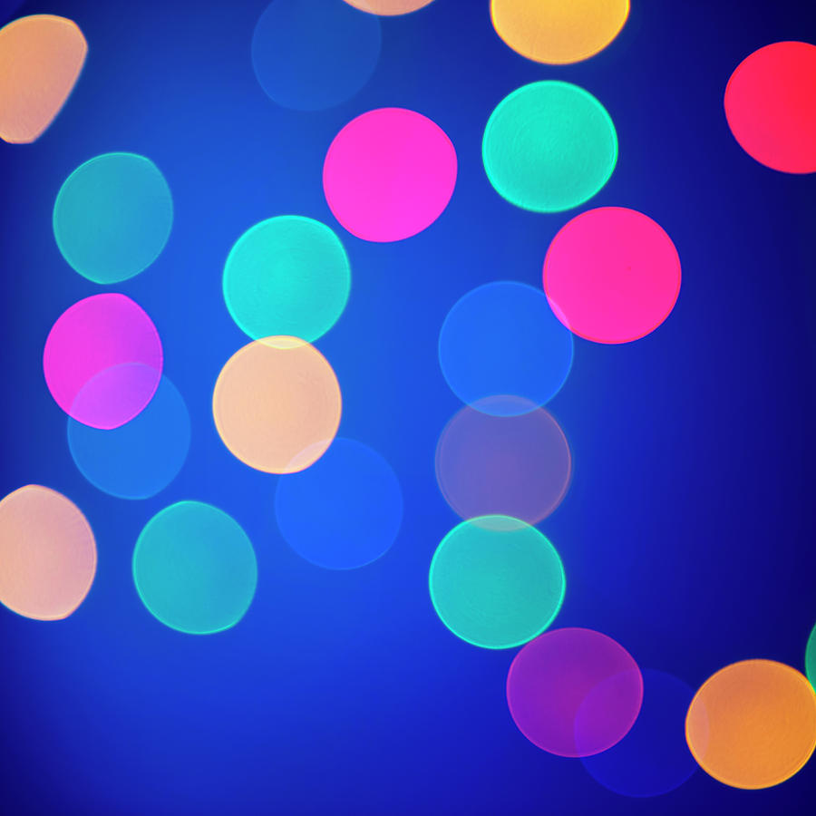 Multicolored Defocused Lights On A Blue Photograph by Gm Stock Films