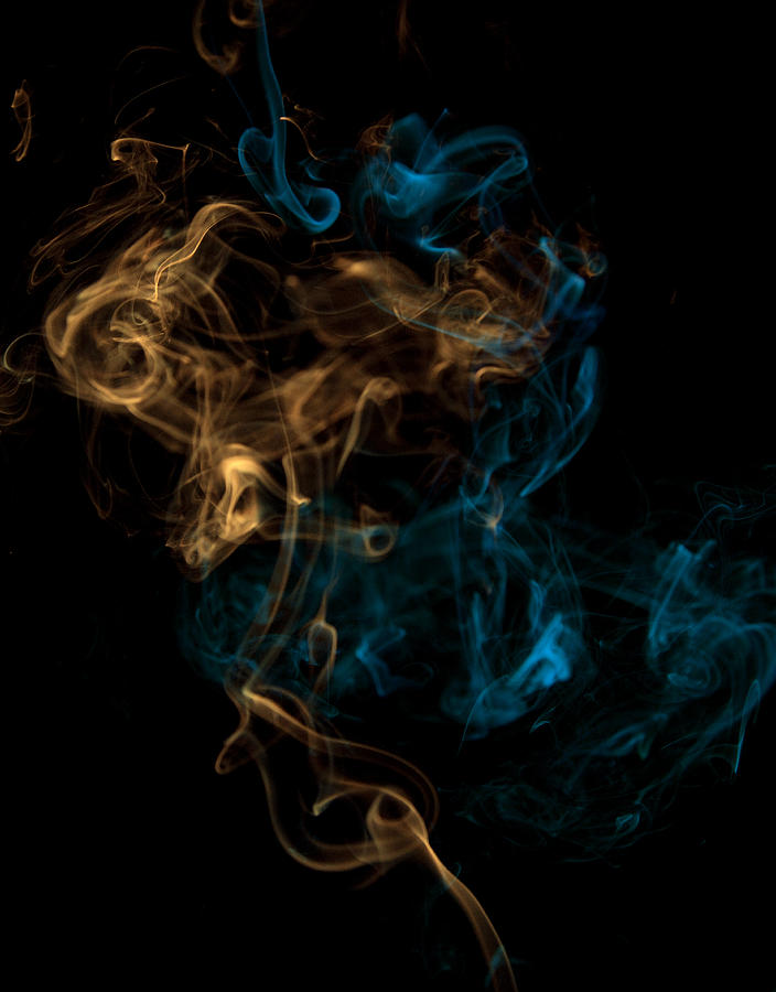 Multicolored Smoke Mixing Digital Art by Chad Baker