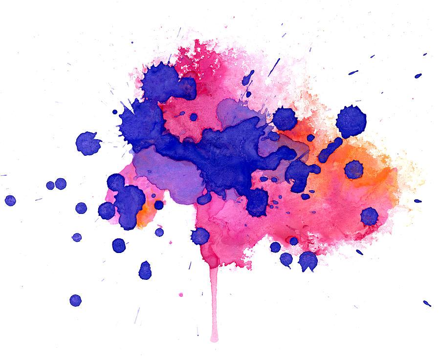 Multicolored Splash Photograph by Alenchi