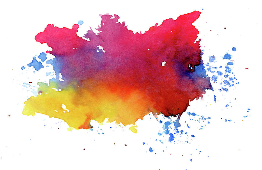 Multicolored Splashes Photograph by Alenchi