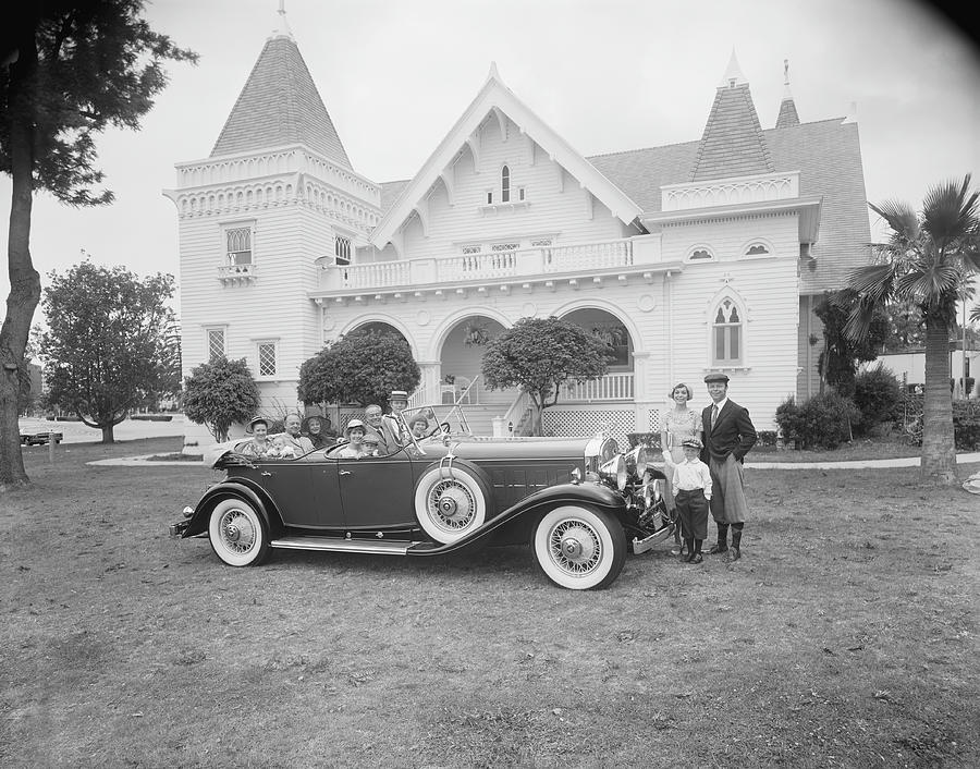 Multigeneration Family In Car And Photograph by Tom Kelley Archive