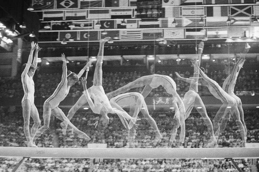 Multiple Exposure Of Nadia Comaneci On Photograph by Bettmann